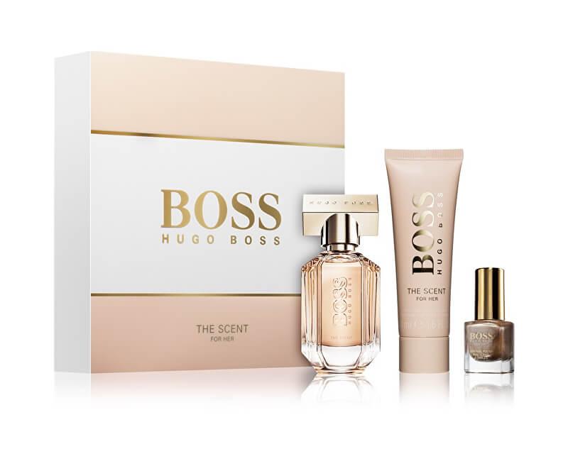 Hugo Boss Boss The Scent For Her - EDP 30 ml + tělové mléko 50 ml + lak na nehty 4,5 ml