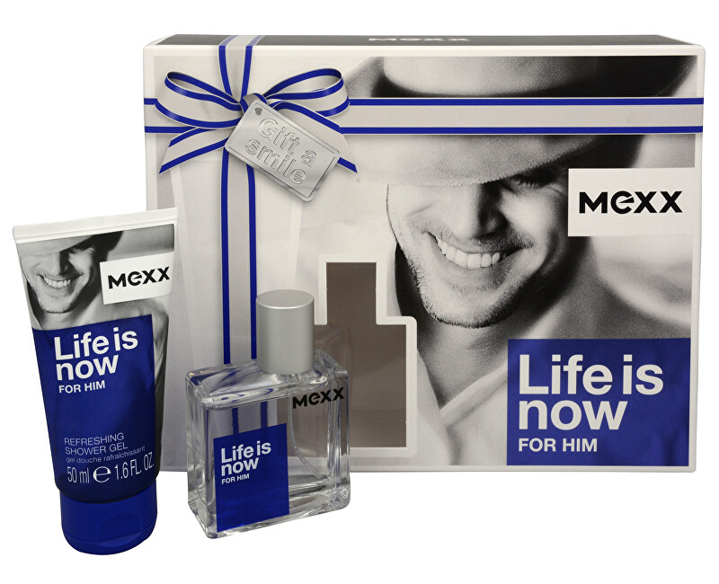 Mexx Life Is Now For Him - EDT 30 ml + sprchový gel 50 ml