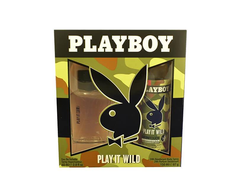 Playboy Play It Wild For Him - EDT 60 ml + deodorant ve spreji 150 ml