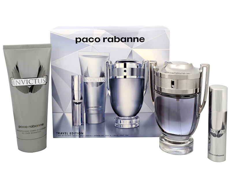 Paco Rabanne Invictus - EDT 100 ml + sprchový gel 100 ml + EDT 10 ml