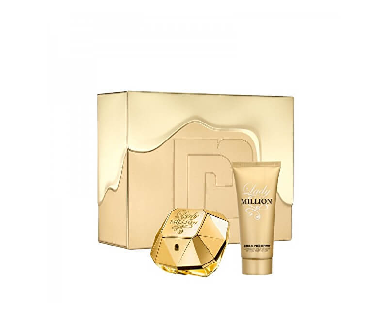 Paco Rabanne Lady Million - EDP 80 ml + loțiune de corp 100 ml