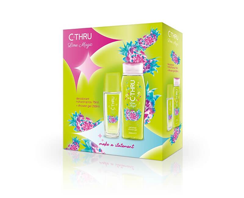 C-THRU Lime Magic - deodorant s rozprašovačem 75 ml + sprchový gel 250 ml
