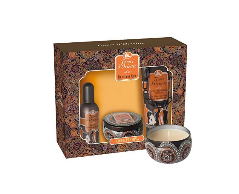 Tesori d´Oriente Lotus Flower & Acacia`s Milk - toaletní voda 100 ml + sprchový gel 250 ml + orientální svíčka