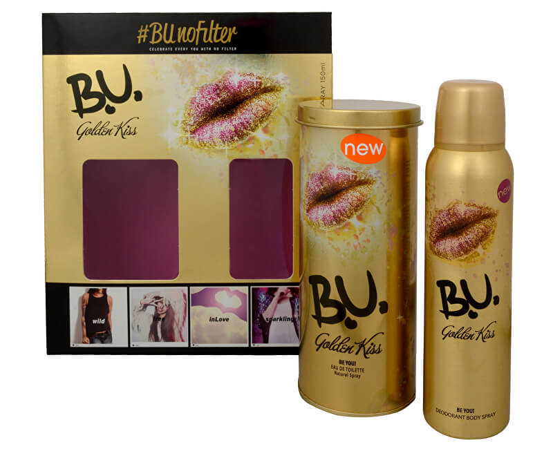 B.U. Golden Kiss - EDT 50 ml + Deodorant Spray 150 ml
