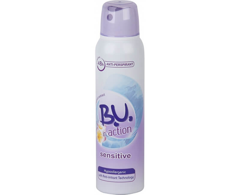B.U. In Action Sensitive - deodorant ve spreji