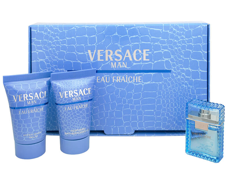 Versace Eau Fraiche Man - EDT 5 ml + sprchový gel 25 ml + balzám po holení 25 ml