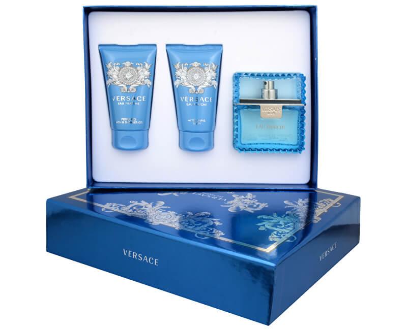 Versace Eau Fraiche Man - EDT 50 ml + sprchový gel 50 ml + balzám po holení 50 ml
