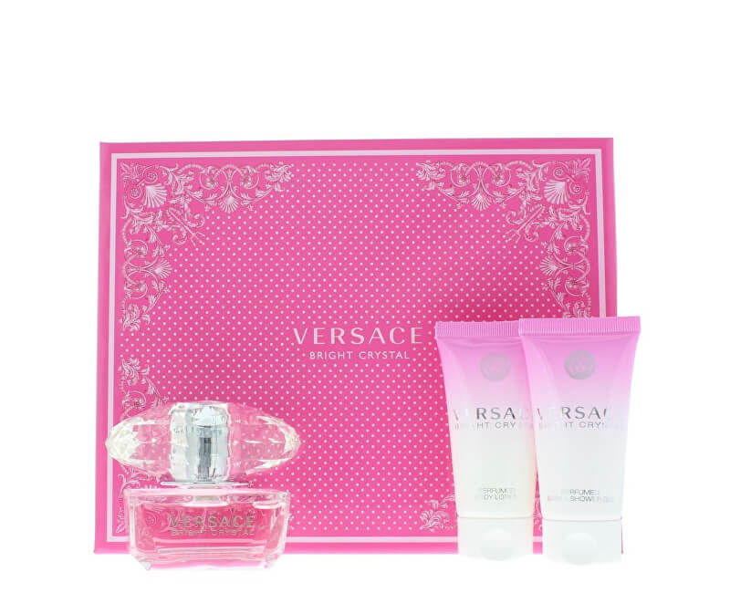 Versace Bright Crystal - EDT 50 ml + tělové mléko 50 ml + sprchový gel 50 ml