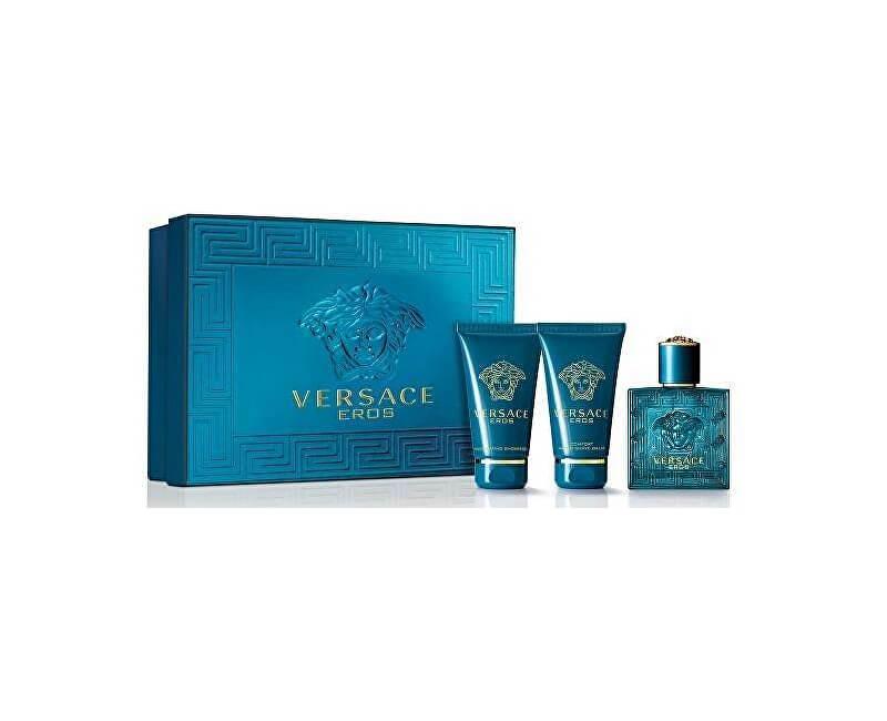 Versace Eros - EDT 5 ml + balzám po holení 25 ml + sprchový gel 25 ml