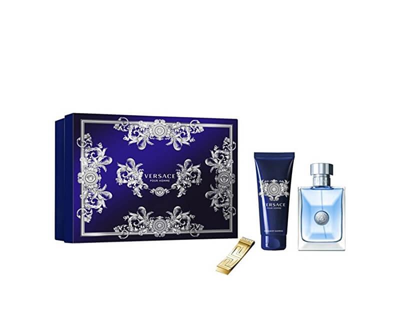 Versace Pour Homme - EDT 100 ml + sprchový gel 100 ml + spona na bankovky