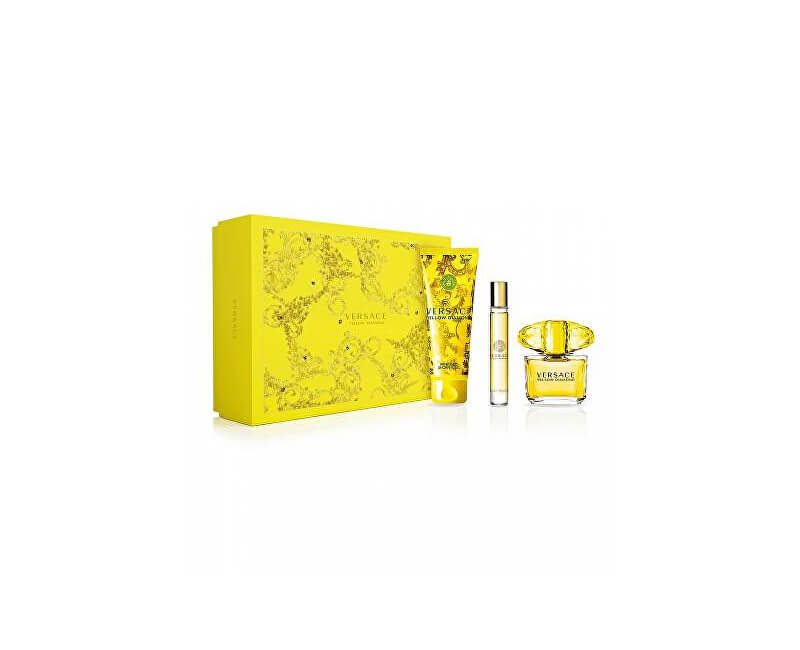 Versace Yellow Diamond - EDT 90 ml + sprchový gel 150 ml + EDT 10 ml