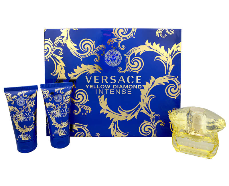 Versace Yellow Diamond Intense - EDP 50 ml + sprchový gel 50 ml + tělové mléko 50 ml