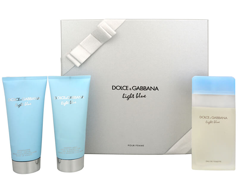 Dolce & Gabbana Light Blue - EDT 100 ml + tělový krém 100 ml + koupelový a sprchový gel 100 ml - SLEVA - poškozená krabička