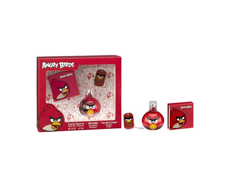 EP Line Angry Birds Red Bird - EDT 50 ml + poznámkový bloček + přívěšek - SLEVA - pomačkaná krabička