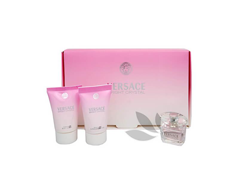 Versace Bright Crystal - toaletní voda 5 ml + tělové mléko 25 ml + sprchový gel 25 ml - SLEVA - poškozená krabička