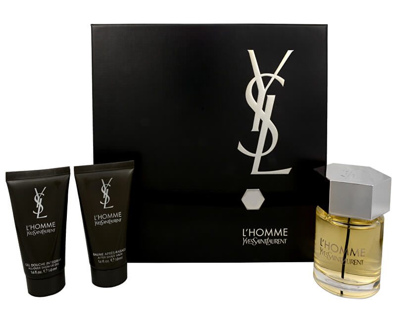Yves Saint Laurent L` Homme - EDT 100 ml + balsam  after shave 50 ml + gel de duș 50 ml