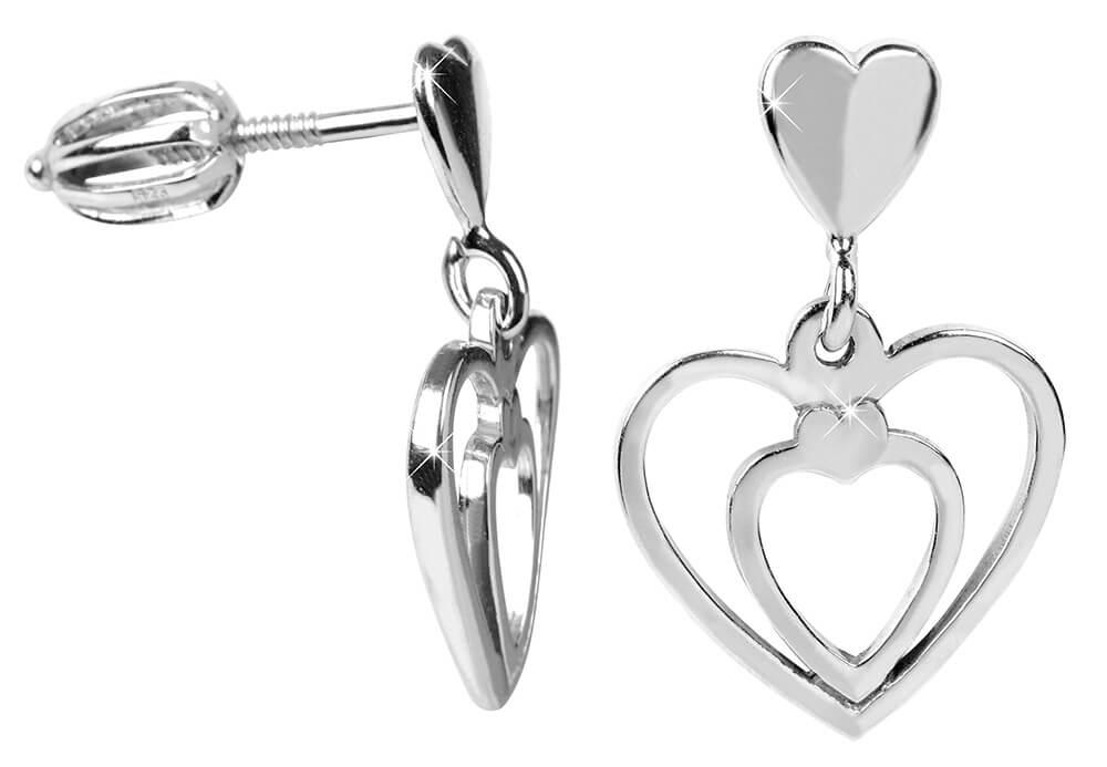 Brilio Silver Zamilované náušnice Srdce 431 001 02719 04 - 1 64385b220f4