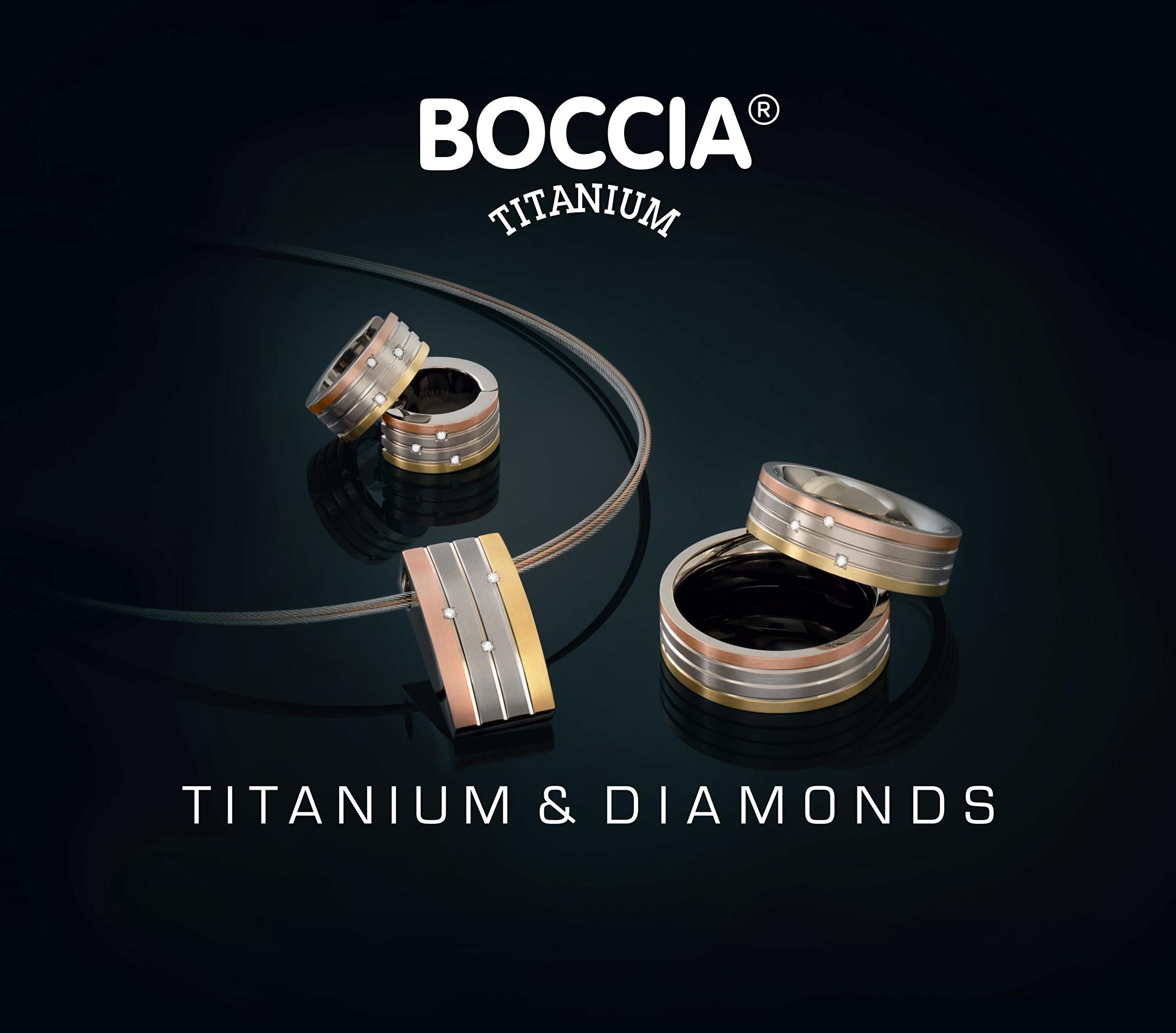 ad565deac Boccia Titanium Pozlacené titanové kruhy 0592-03 Doprava ZDARMA ...