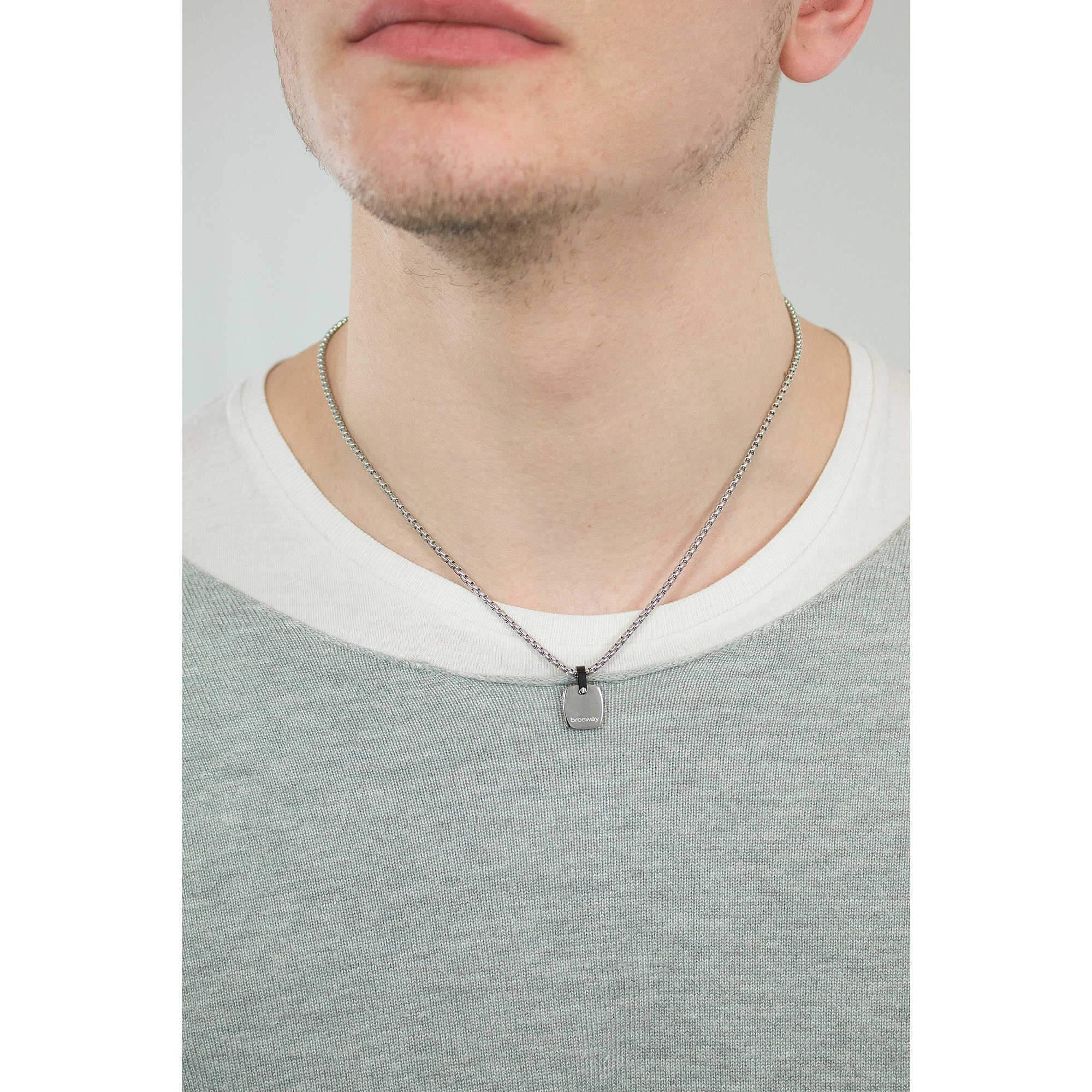 7e1703b5b Brosway Pánský ocelový náhrdelník Sign BGN03 | Sperky.cz