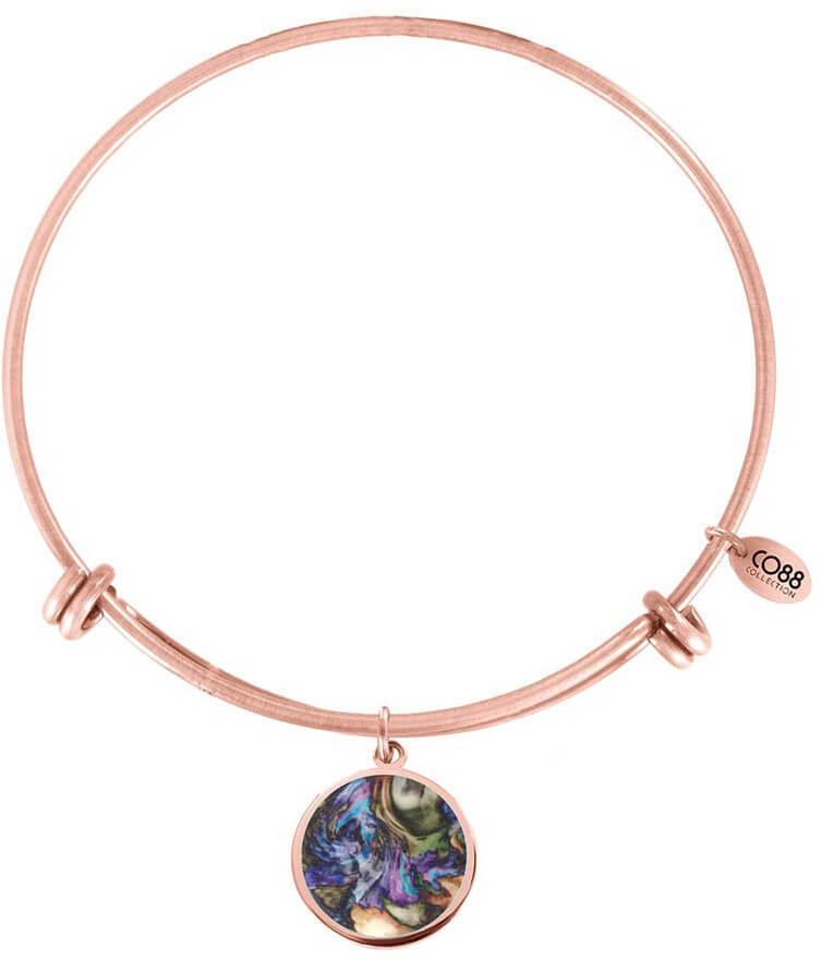 CO88 Bronzový oceľový náramok s farebným príveskom 860-180-011034-0000 ee505ef6a98