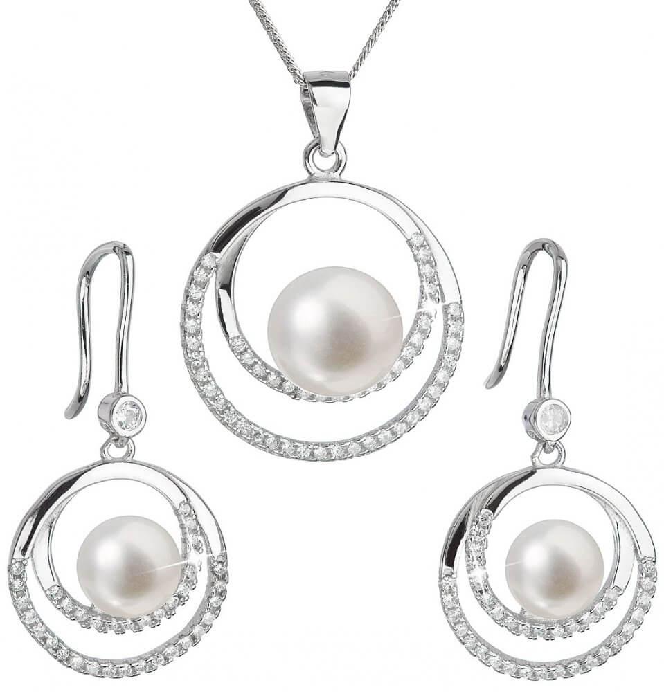 Evolution Group Luxusní stříbrná souprava s pravými perlami Pavona 29020.1 ( náušnice aba51ccf545