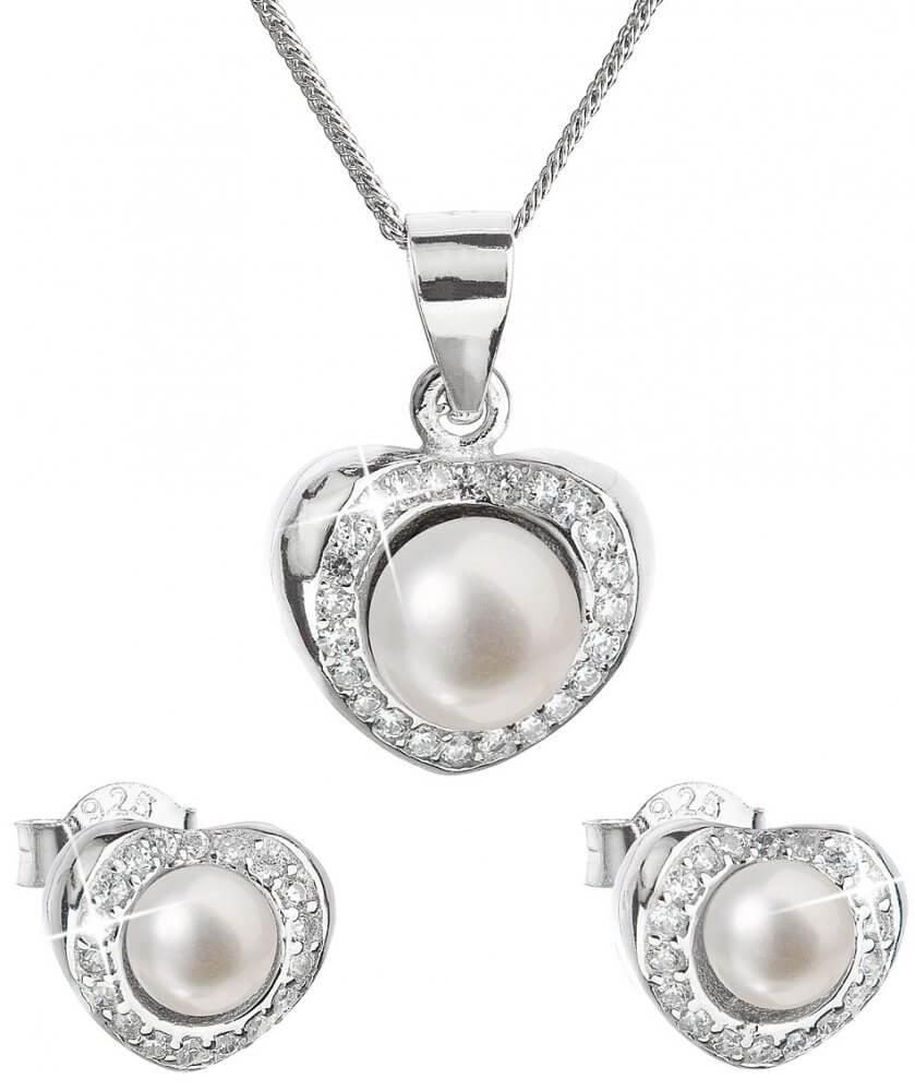 Evolution Group Luxusní stříbrná souprava s pravými perlami Pavona 29025.1 ( náušnice 6534d1253b1