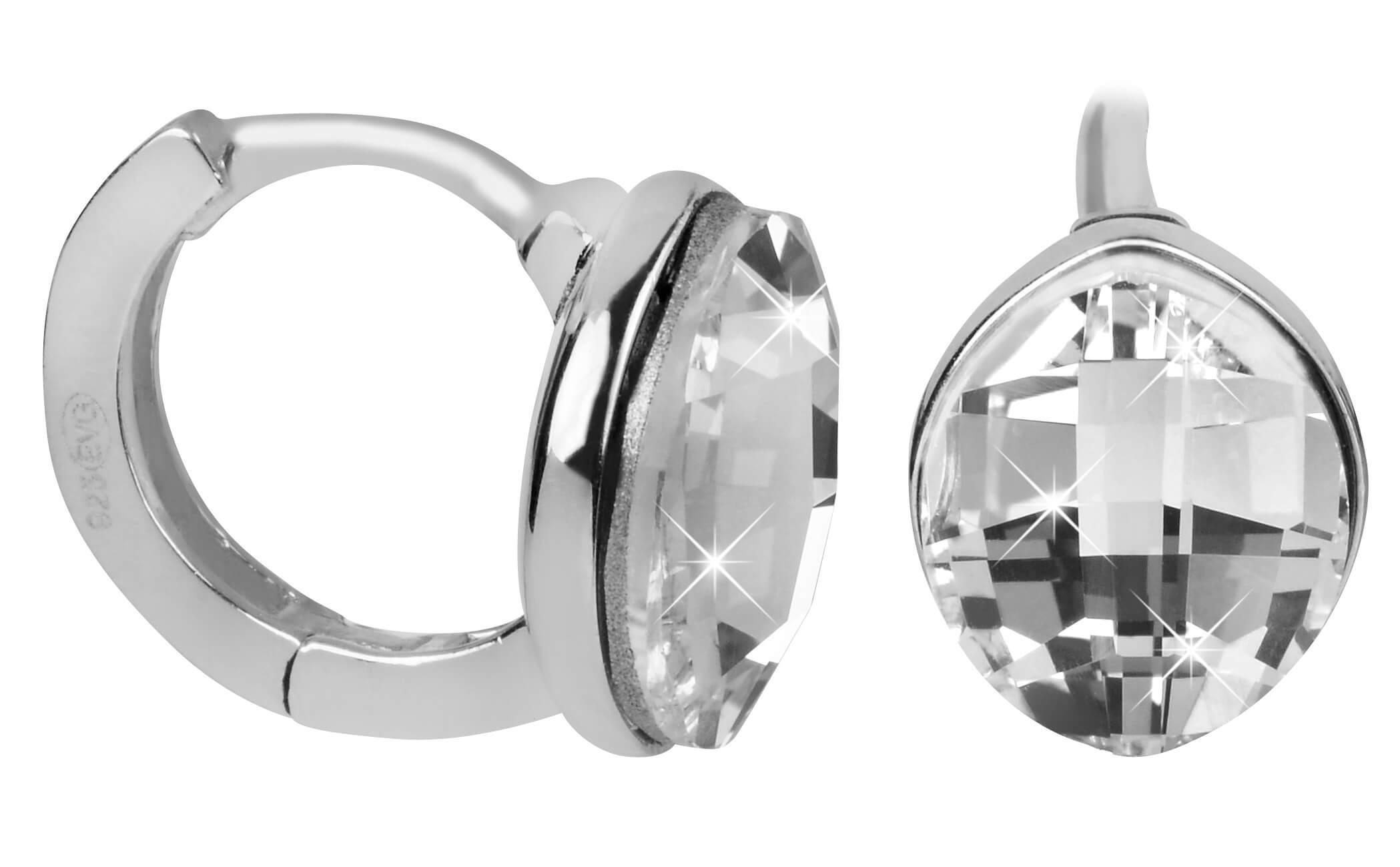 Evolution Group Stříbrné náušnice s krystaly Swarovski 31261.1 ... 49576661f4c