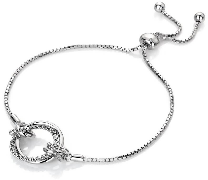 d5c94e5e7 Hot Diamonds Stříbrný náramek s pravým diamantem Jasmine DL594 ...