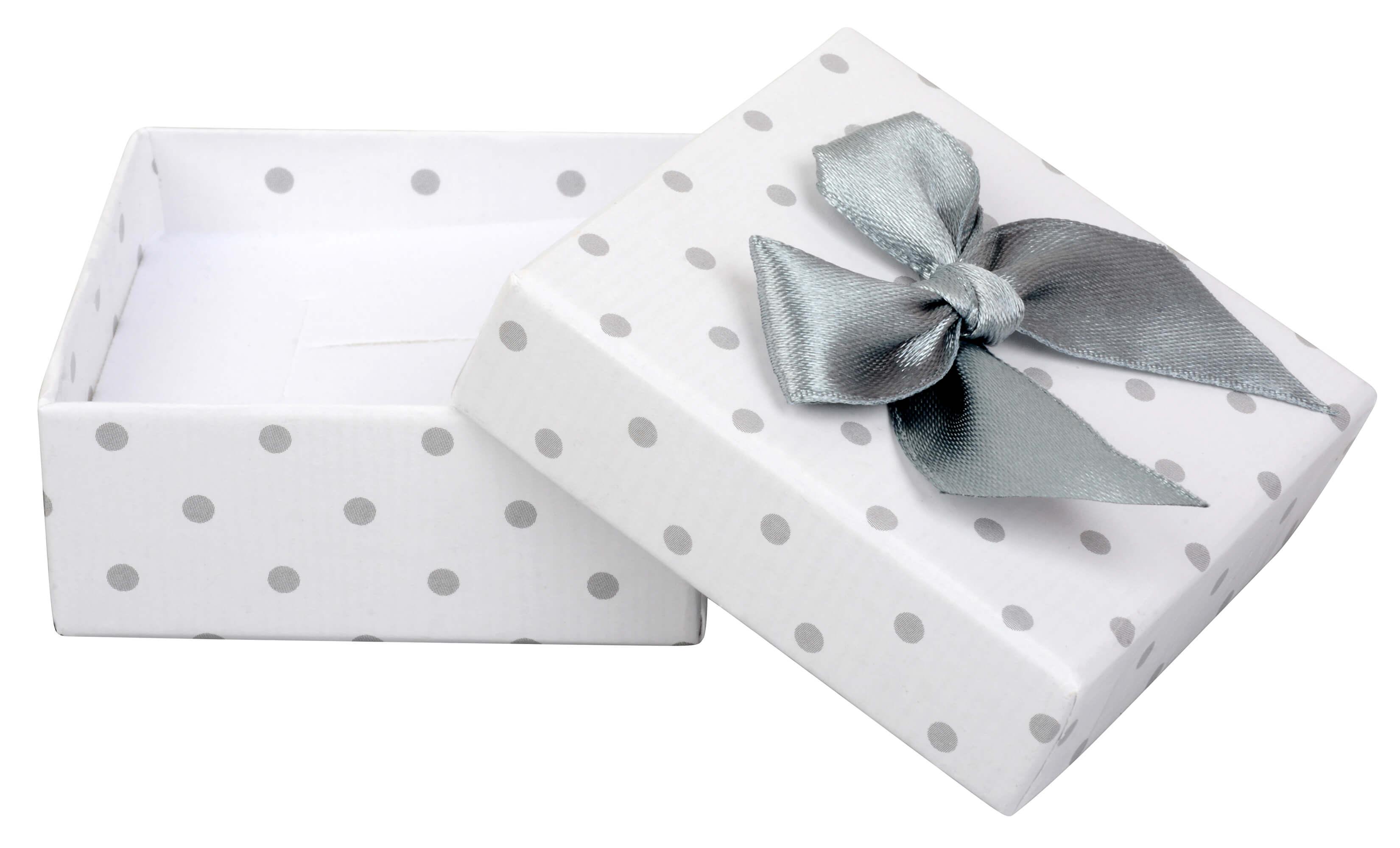 JK Box Puntíkatá krabička na soupravu šperků KK-4 A1  bf4437ad071
