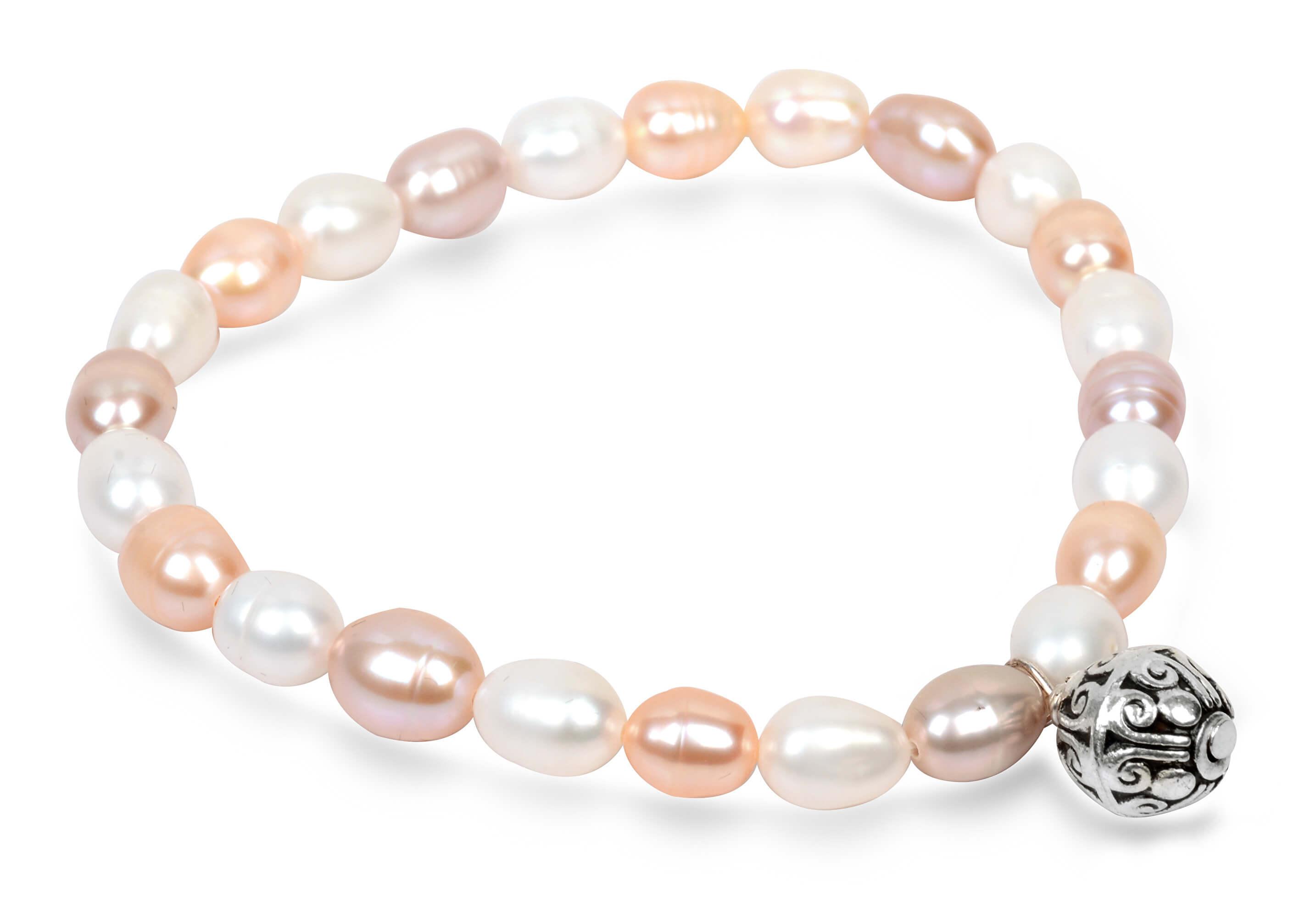 69359d562 JwL Luxury Pearls Jemný náramek z pravých perel s kovovou ozdobou JL0294