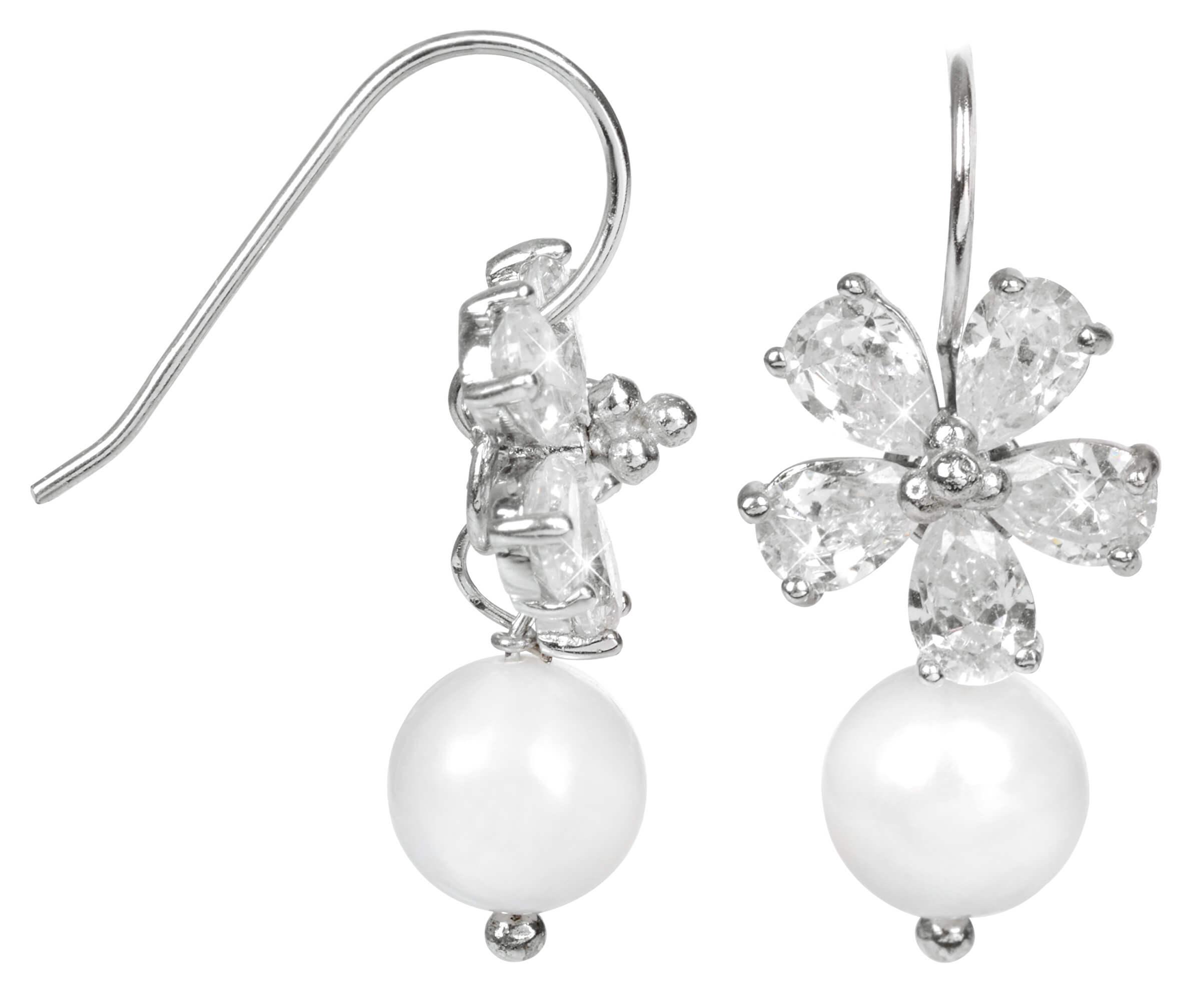 JwL Luxury Pearls Stříbrné náušnice s pravou bílou perlou JL0093 ... 550a3e7f435