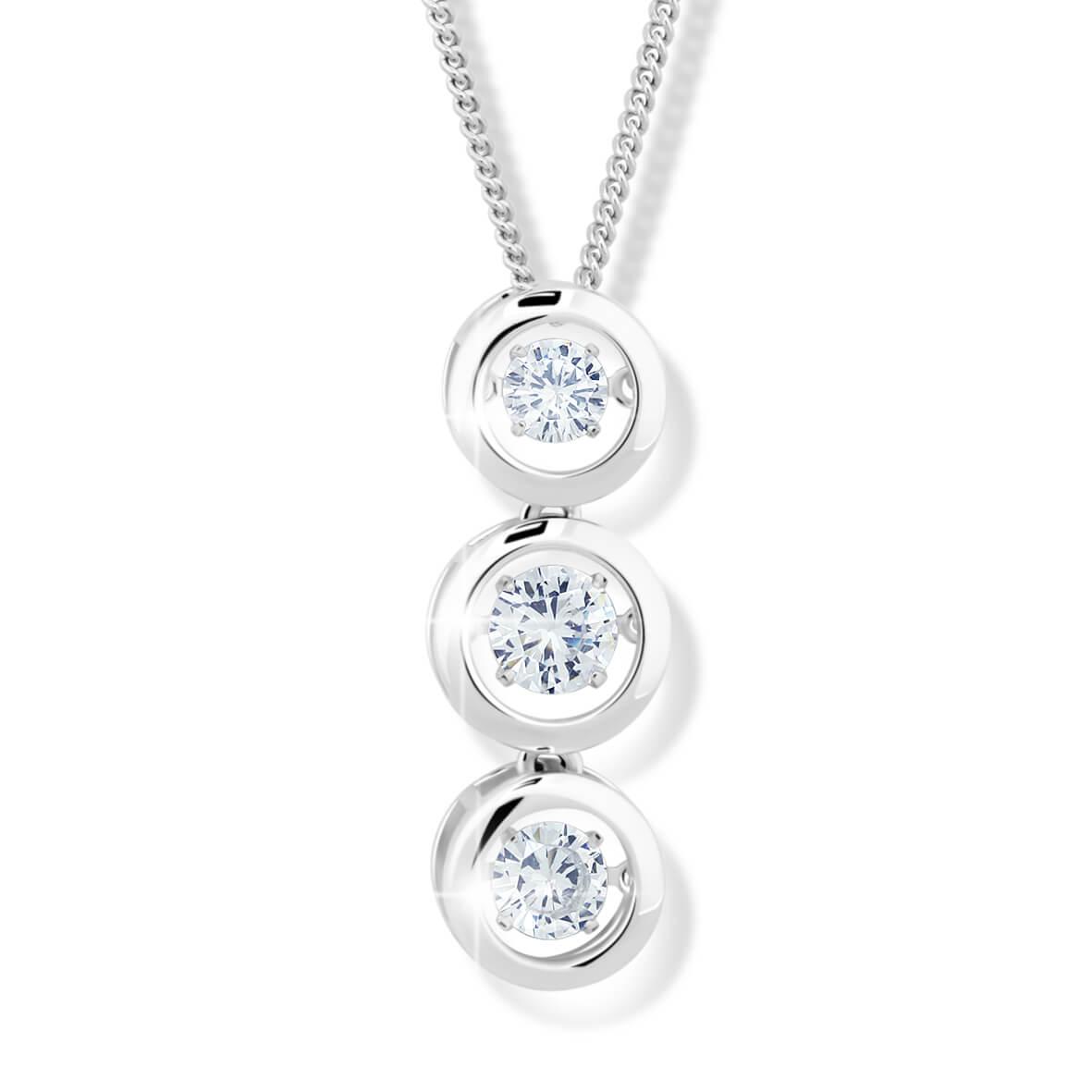 Modesi Dámský stříbrný náhrdelník M43064 (řetízek f25e2087994