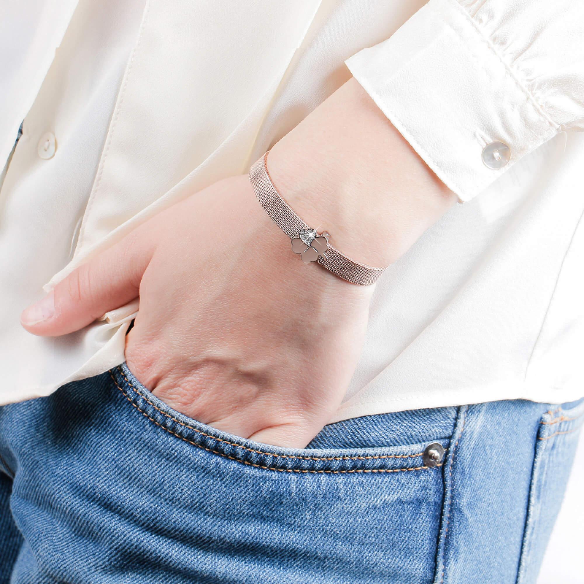 Morellato Štvorlístok na náramky SENSAZIONE SAJT16 S darčekom ·  p Ukázka  navlečení na náramek Morellato Tesori.  p  70e02479477