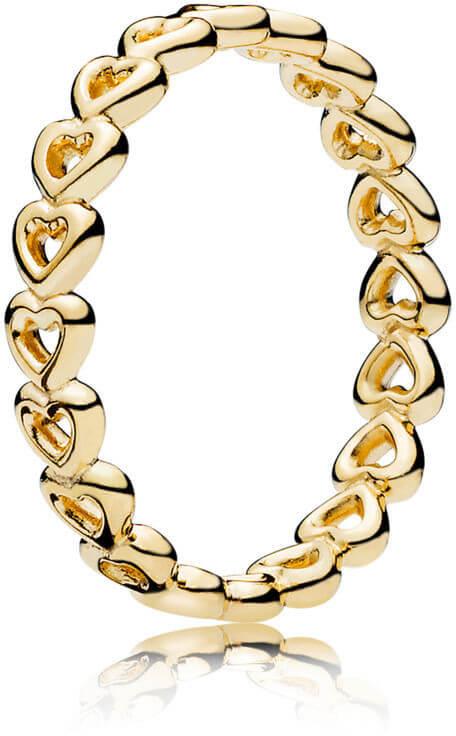 Pandora Srdíčkový prsten z pozlaceného stříbra 167105 Doprava ZDARMA ... c957b3e1b59