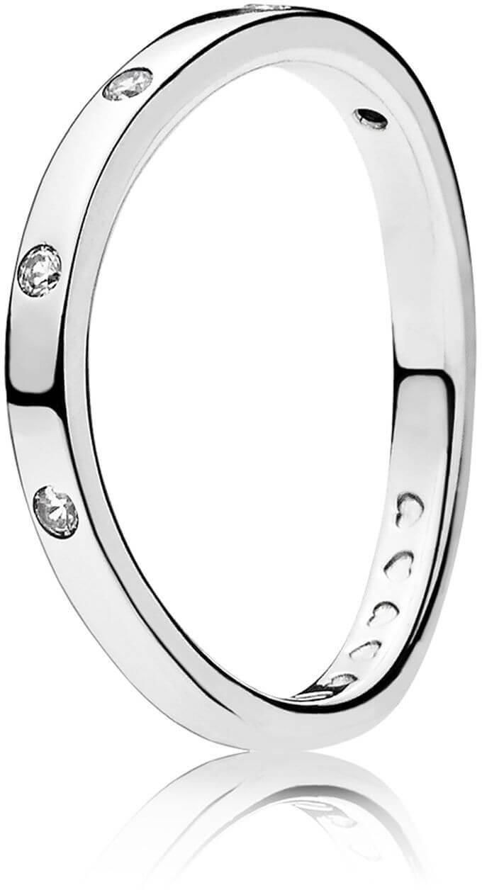 Pandora Stříbrný prsten s třpytivými kamínky 197113CZ  376ab3ed4ff
