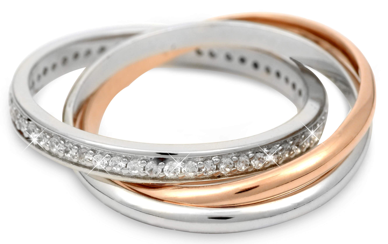 eb5ce8883 Silver Cat Stříbrný prsten s krystalky SC121 Doprava ZDARMA | Sperky.cz