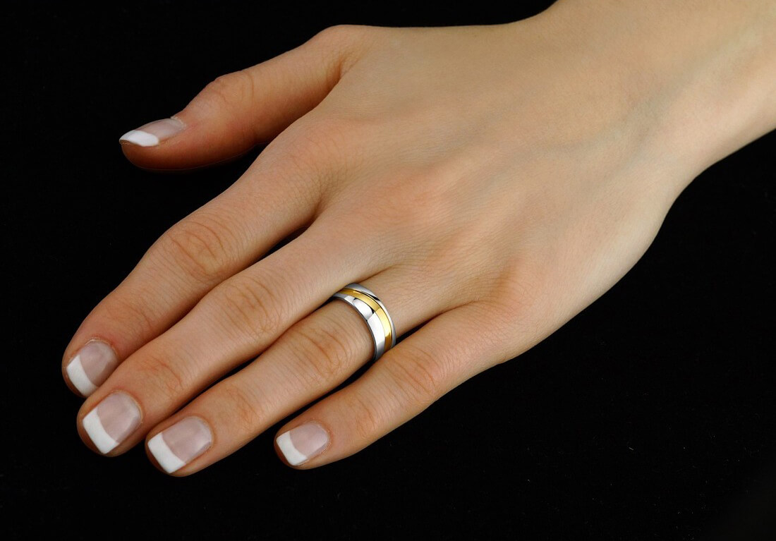 Silvego Snubný oceľový prsteň pre mužov a ženy Mariage RRC2050-M ... 6001e824f98