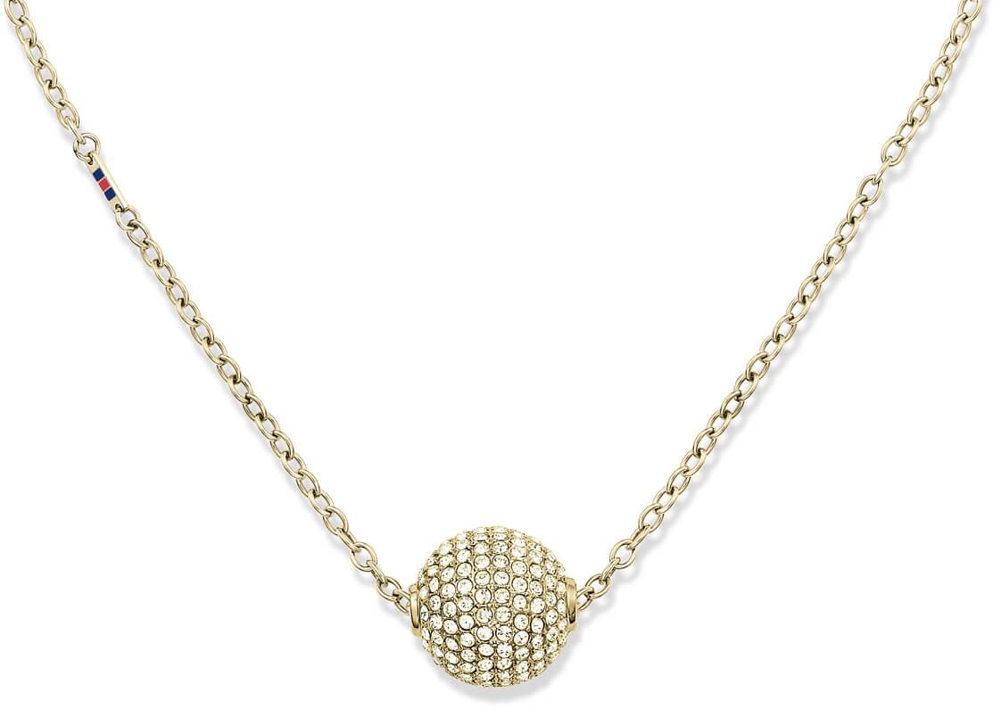 30b0dc090 Tommy Hilfiger Zlatý náhrdelník Kulička s krystaly TH2700837 Doprava ...