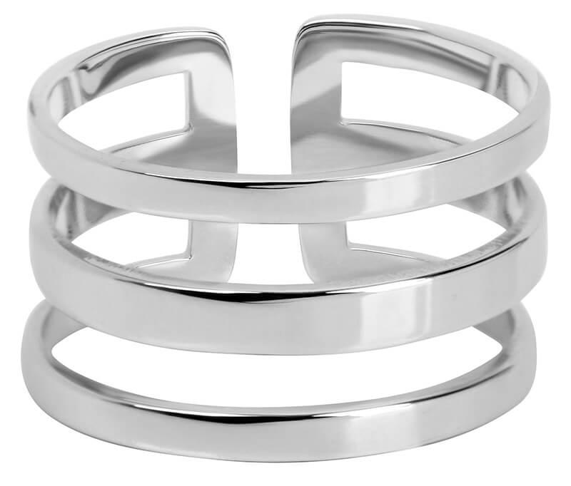7cefcf67cef Troli Stylový trojitý prsten z oceli