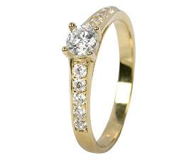 Dámský prsten s krystaly 229 001 00668