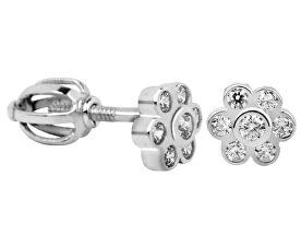 Brilio Náušnice Kvetinky z bieleho zlata s kryštálmi 239 001 00337 07 - 1 f401aa0ecbb