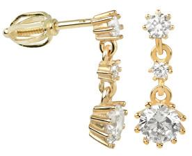 Náušnice ze žlutého zlata s krystaly 239 001 00650 - 2,20 g