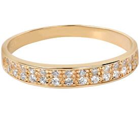 Prsten ze žlutého zlata s krystaly 229 001 00670