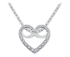 Romantický náhrdelník Srdce s kryštálmi 279 001 00089 07 - 2,50 g (retiazka, prívesok)
