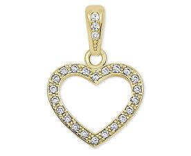 Srdíčkový přívěsek ze žlutého zlata s krystaly 249 001 00561 - 1,00 g