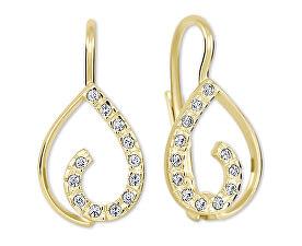 Zlaté náušnice s krystaly 239 001 00610 - 1,55 g
