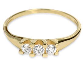 Zlatý dámský prsten s krystaly 229 001 00707 - 1,35 g