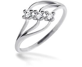 Dámský prsten s kameny 229 001 00496 07 - 1,20 g
