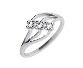 Dámský prsten s krystaly 229 001 00546 07 - 1,35 g