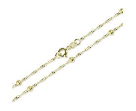Zlatý náhrdelník Lambáda s kuličkami 45 cm 273 115 00007 - 1,85 g
